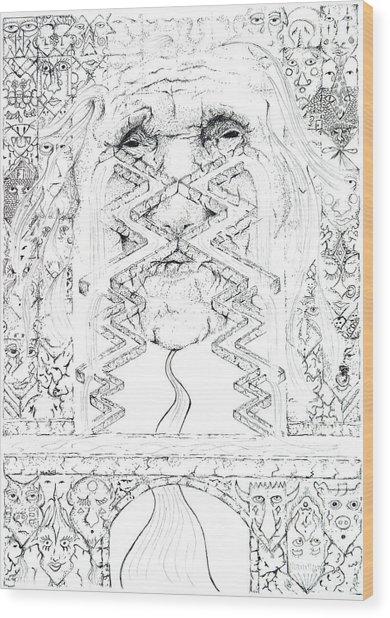 La Llorona Sombra De Arreguin Wood Print