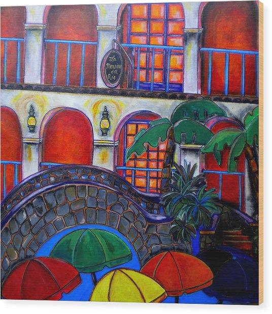 La Mansion Del Rio Wood Print by Patti Schermerhorn