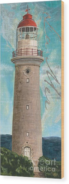 La Mer Lighthouse Wood Print