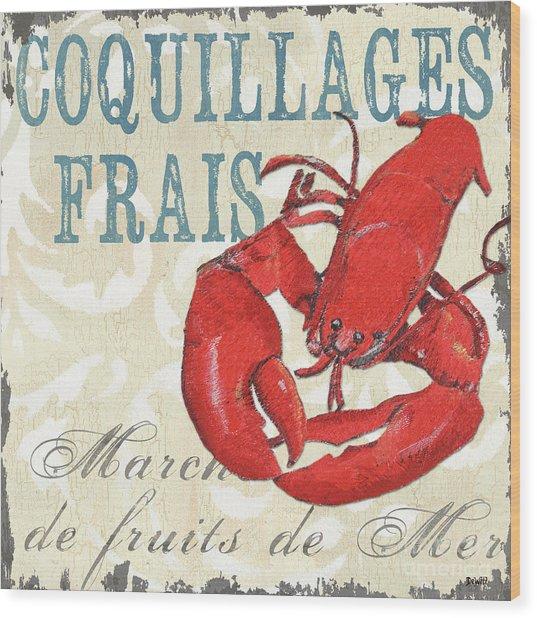 La Mer Shellfish 2 Wood Print