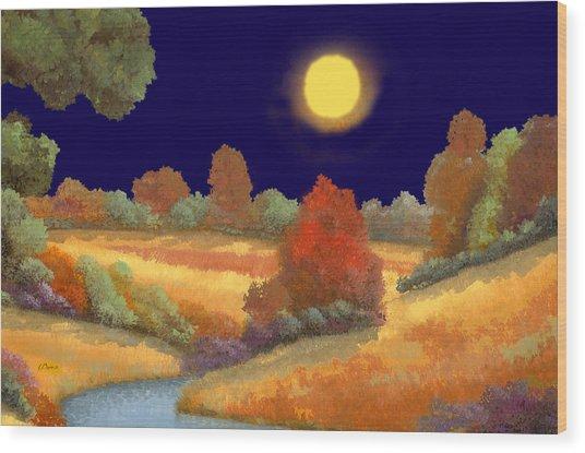 La Musica Della Notte Wood Print