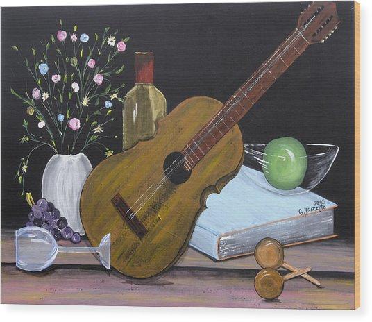 La Musica Por Dentro Wood Print