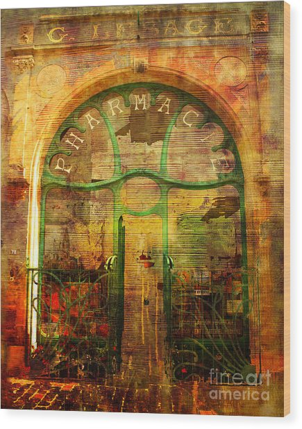La Pharmacie 2016 Wood Print