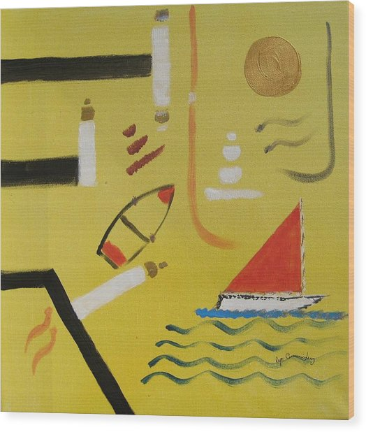 La Playa  Wood Print by Roger Cummiskey