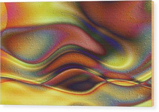 La Puesta Del Sol Wood Print