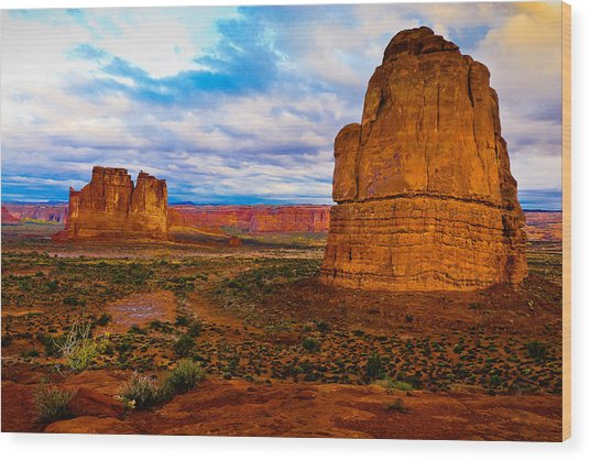 La Sal Daylight Wood Print