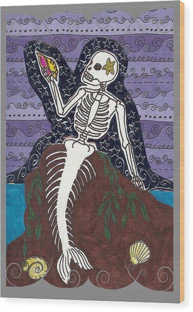 La Sirena Wood Print by Laurie Silva