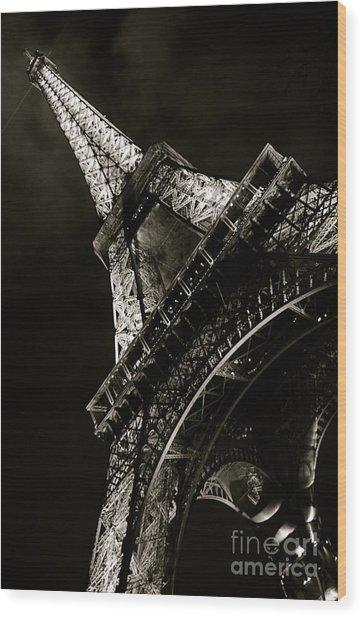 La Tour A Nuit Wood Print by Louise Fahy