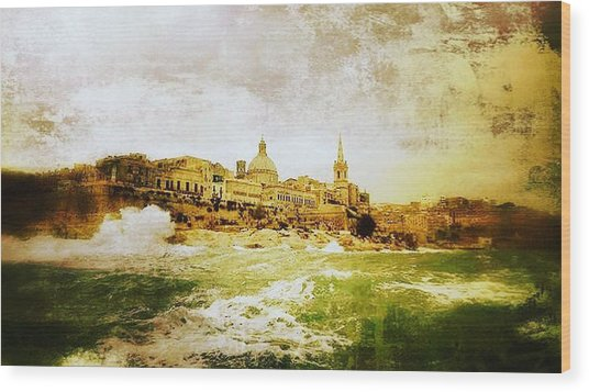 La Valletta Wood Print