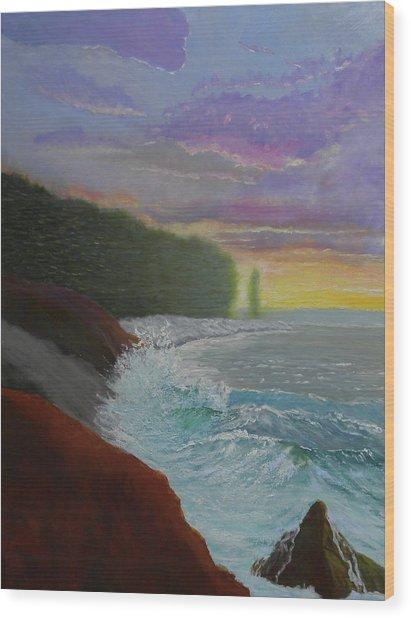 La Verna Sunrise Wood Print