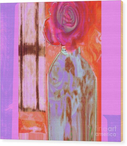 La Vie En Rose  1 Wood Print