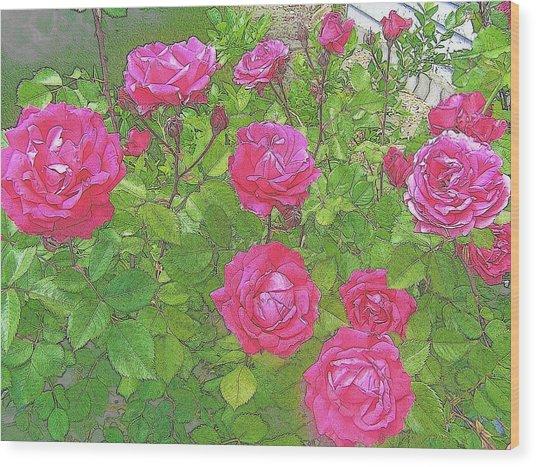 La Vie En Roses Wood Print by Jen White