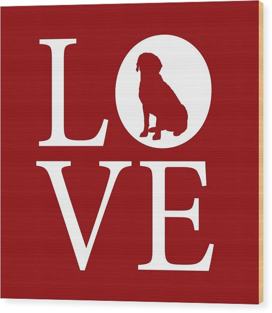 Labrador Love Red Wood Print