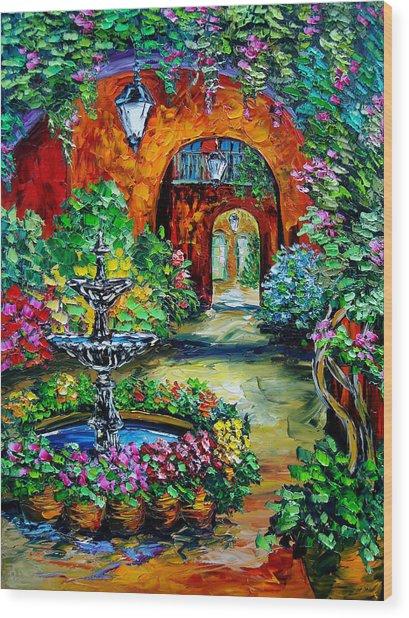Labyrinth Of Arches Wood Print by Beata Sasik
