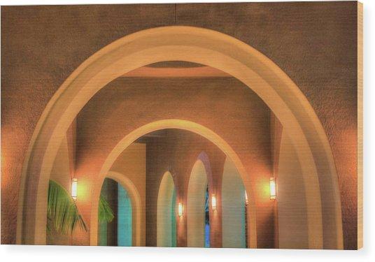 Labyrinthian Arches Wood Print