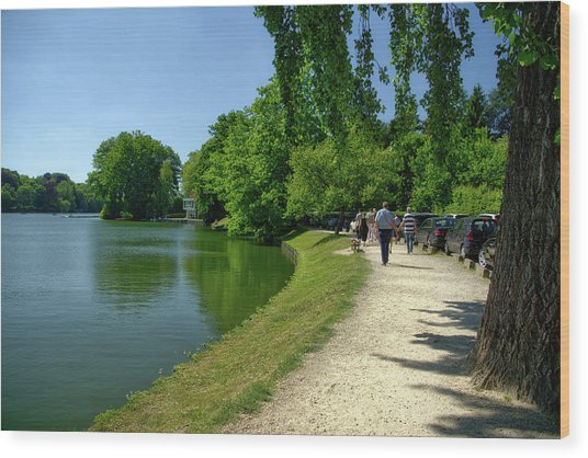 Lac De Genval Wood Print