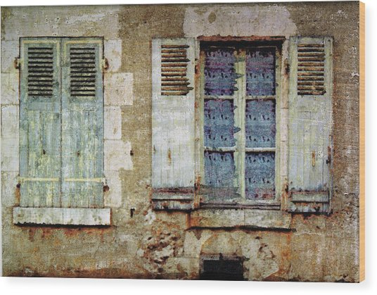 Lace Window Wood Print