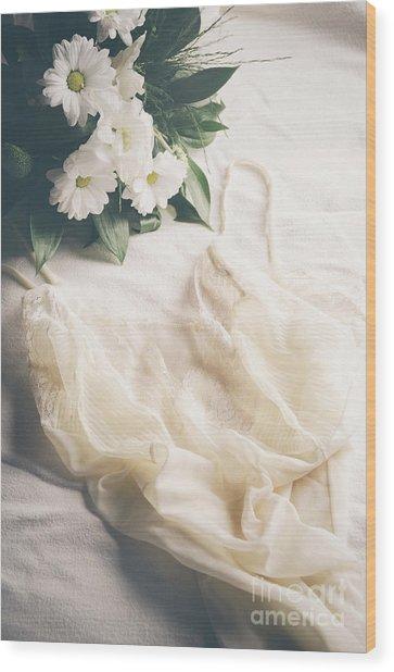 Laced Underwear Wood Print