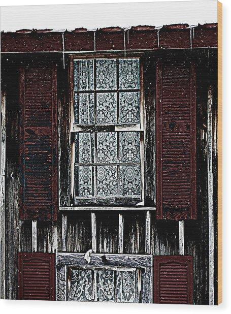Laced Window Wood Print