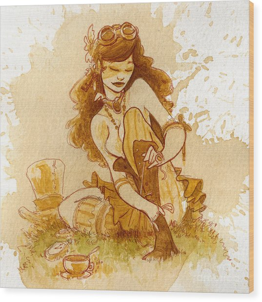 Laces Wood Print by Brian Kesinger