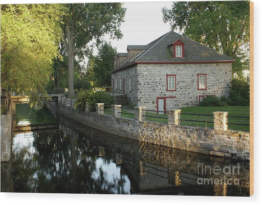 Lachine Canal Montreal Quebec Wood Print