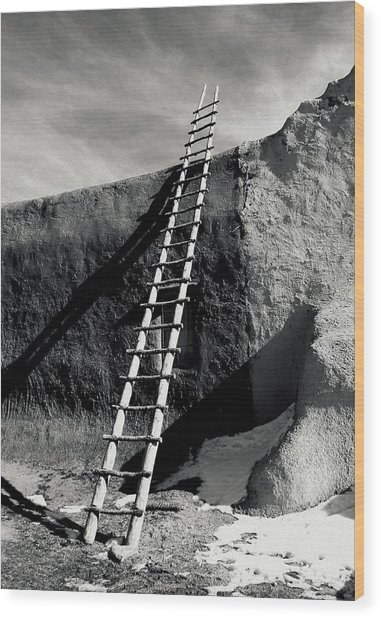Ladder To The Sky Wood Print