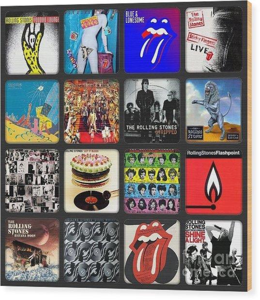 Ladies And Gentlmen The Rolling Stones Wood Print