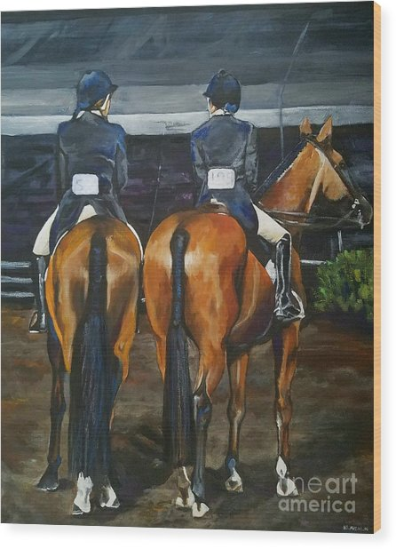 Ladies At Sussex Hunt Night Wood Print