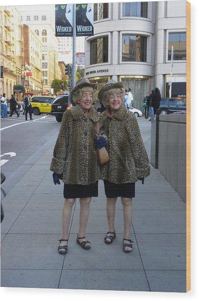 Ladies From San Francisco Wood Print