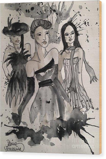 Ladies Galore Wood Print
