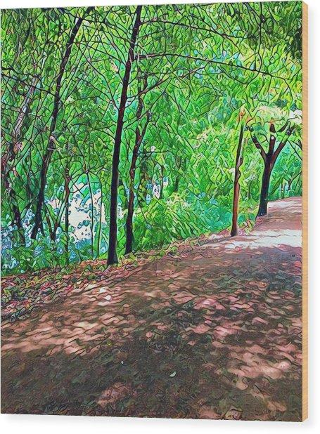 Lady Bird Trail Wood Print