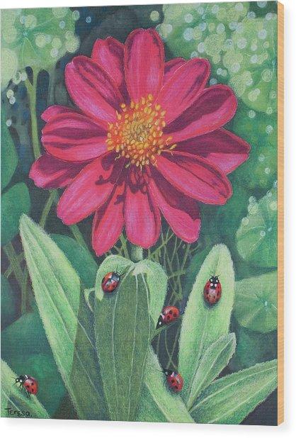 Lady Bug Picnic Wood Print