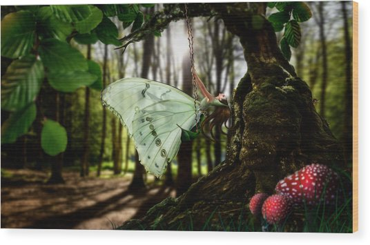 Lady Butterfly Wood Print