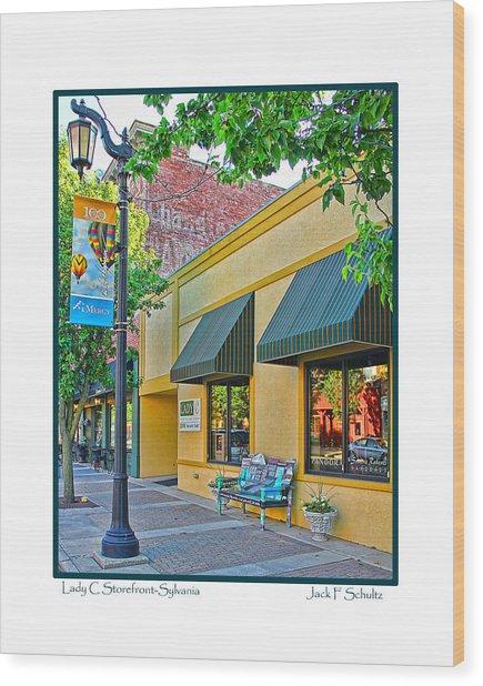 Lady C Storefront-sylvania Wood Print