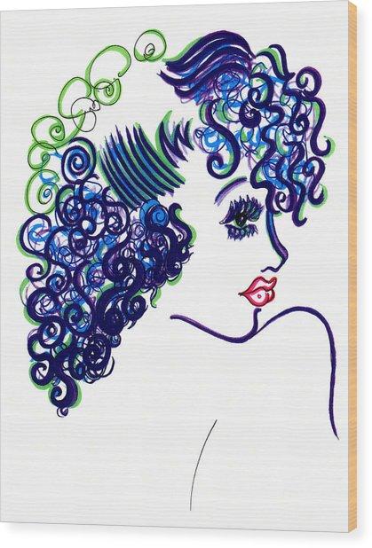 Lady Flirting Wood Print by Judith Herbert