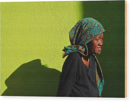 Wood Print featuring the photograph Lady In Green by Skip Hunt