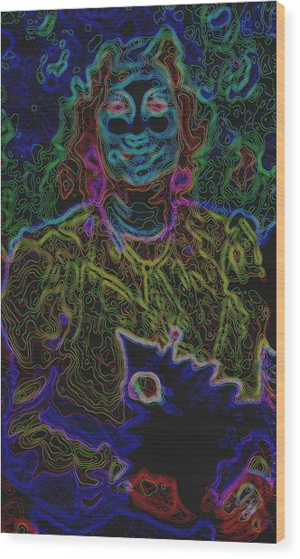 Lady In Smiles Wood Print