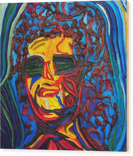 Lady In Sunglasses Wood Print by Ira Stark