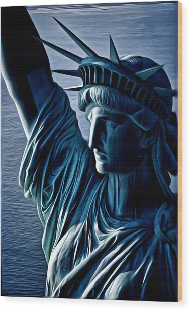 Lady Liberty Wood Print by Kevin  Sherf