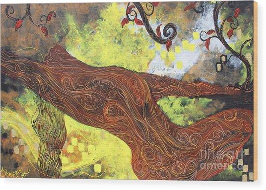 Lady Of Elation Wood Print