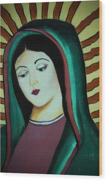 Lady Of Guadalupe Wood Print