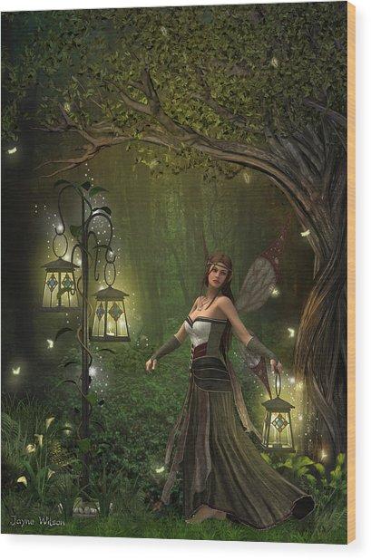 Lady Of The Lanterns Wood Print