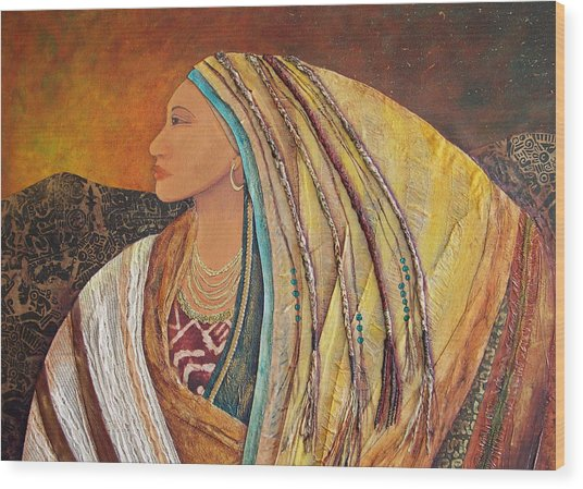 Lady Of The Mountains Wood Print by Candy Mayer