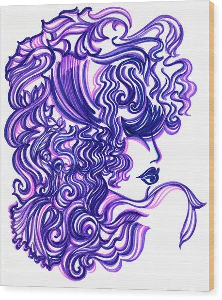 Lady Violet Wood Print by Judith Herbert