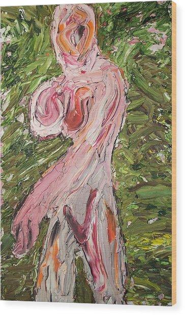 Lady08 Wood Print by Ira Stark