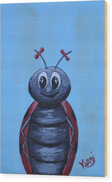 Ladybug's School Picture Wood Print