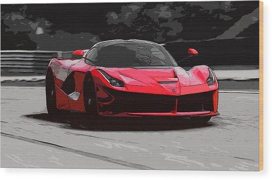 La Ferrari Wood Print by Andrea Mazzocchetti