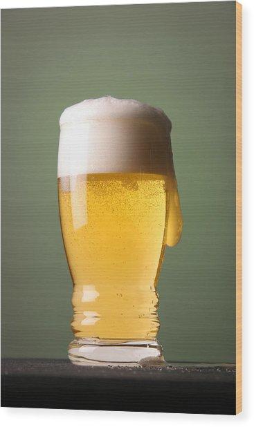 Lager Beer Wood Print