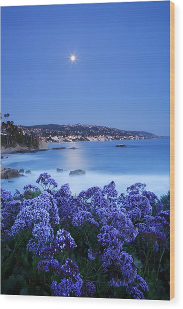 Laguna Moonrise Wood Print