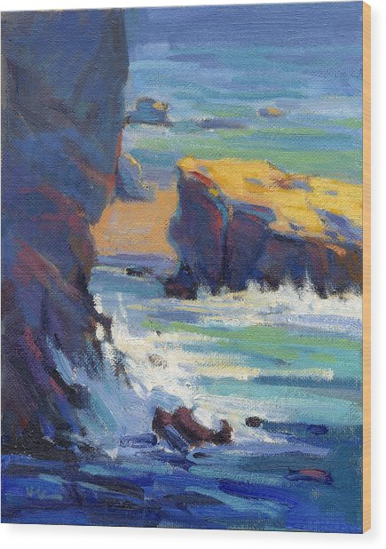 Laguna Rocks Wood Print